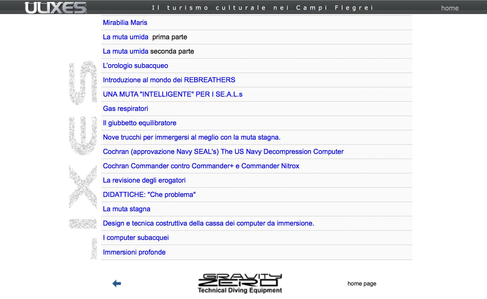 Le Rubriche di Subacquea di Fabrizio Pirrello su Ulixes.it