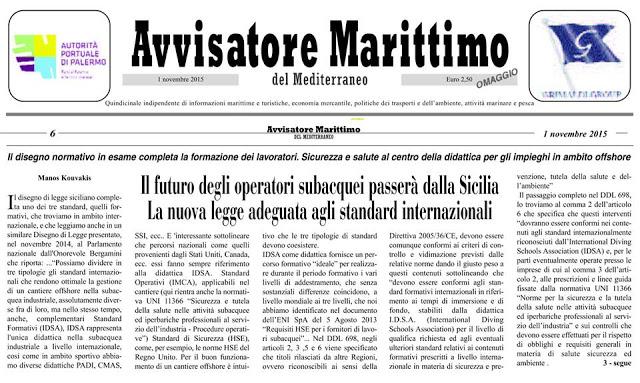 Sviluppo e prospettive del commercial diver Italiano