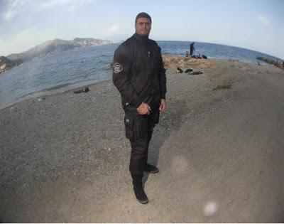 Marco Panico in immersione con una TLS RANGER FZ