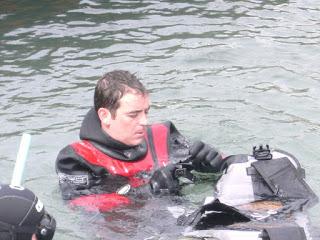 Oscar Alegre in una sessione acque delimitate by GRAVITY ZERO Diving TEAM